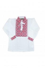 Bluza tip ie baieti brodata traditional alb DAE6616