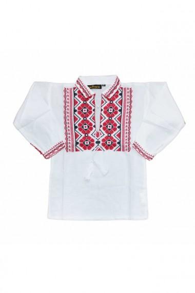 Bluza tip ie baieti brodata traditional alb DAE6622