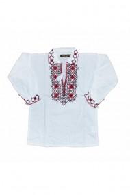 Bluza tip ie baieti brodata traditional alb DAE6626