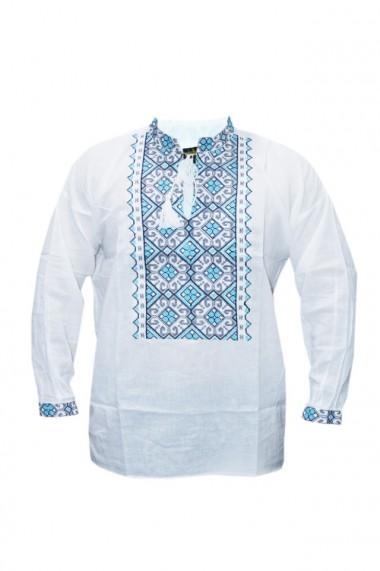 Bluza barbati tip ie brodata traditional Alb DAE6638