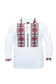Bluza barbati tip ie brodata traditional Alb DAE6639