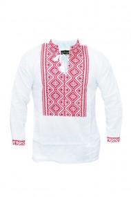 Bluza barbati tip ie brodata traditional Alb DAE6640