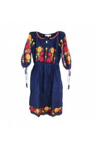 Rochie pentru dama cu motive traditionale Albastru DAE17202