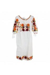 Rochie pentru dama cu motive traditionale Alba DAE17205