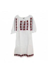 Rochie pentru dama cu motive traditionale Alb DAE17206