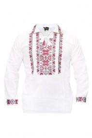 Bluza barbati tip ie brodata traditional Alb/Rosu DAE5169