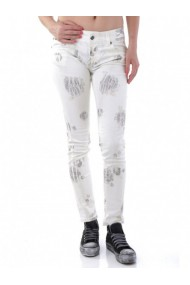 Pantaloni drepti Sexy Woman 59701 Alb