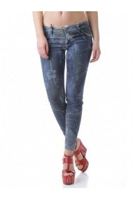 Pantaloni drepti Sexy Woman 63616 Albastru