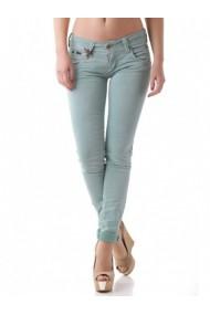 Pantaloni drepti Sexy Woman 64096 Verde