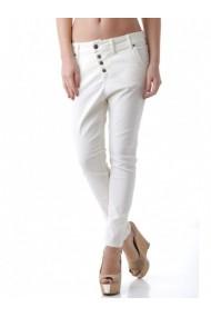 Pantaloni drepti Sexy Woman 64841 Alb
