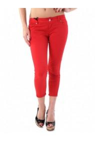 Pantaloni drepti Sexy Woman 67970 Rosu