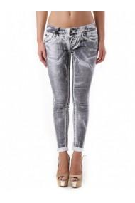 Pantaloni drepti Sexy Woman 67978 Gri
