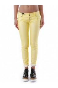 Pantaloni drepti Sexy Woman 68257 Galben