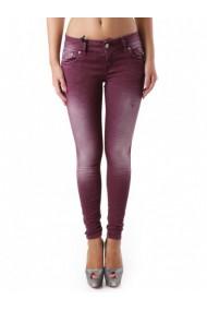 Pantaloni drepti Sexy Woman 69068 Bordo