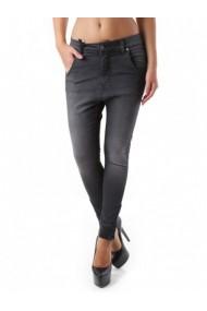 Pantaloni drepti Sexy Woman 69287 Negru