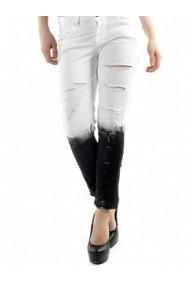 Pantaloni drepti Sexy Woman 71797 Alb