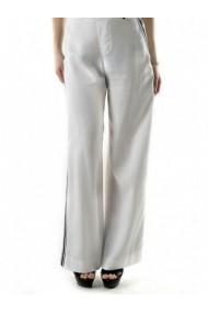Pantaloni drepti Sexy Woman 71947 Alb