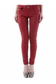 Pantaloni drepti Sexy Woman 73690 Rosu