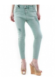 Pantaloni drepti Sexy Woman 74054 Verde