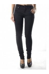 Pantaloni drepti Sexy Woman 76074 Negru