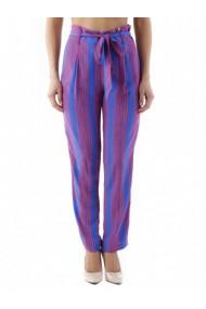 Pantaloni drepti Cristina Gavioli 84833 Albastru