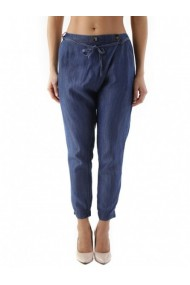 Pantaloni drepti Cristina Gavioli 84841 Albastru