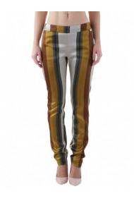 Pantaloni drepti Cristina Gavioli DVG-GG_105077 Auriu