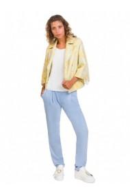 Pantaloni drepti Cristina Gavioli 166341 Albastru