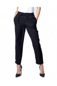 Pantaloni drepti Vila Clothes 160958 Negru