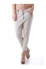 Pantaloni drepti Anya Hindmarch 63605 Bej