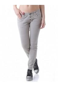 Pantaloni drepti Anya Hindmarch 64136 Gri