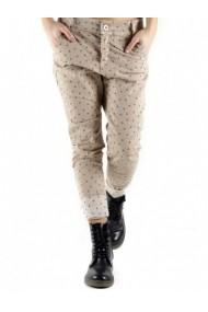 Pantaloni drepti Anya Hindmarch 71656 Bej