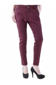 Pantaloni drepti Anya Hindmarch 73669 Bordo