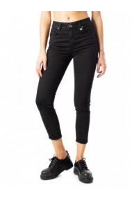 Pantaloni drepti Ak 145568 Negru