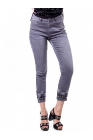 Pantaloni drepti DESIGUAL 133715 Gri