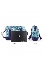 Geanta laptop albastra Paisley