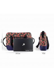 Geanta laptop mov cu trandafiri mici