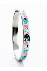 Set bijuterii Pink flowers: bratara cercei inel lantisor cu pandantiv