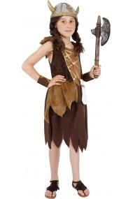 Costum Viking fetite 7-9 ani