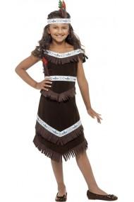Costum Nativ American fetite 7-9 ani