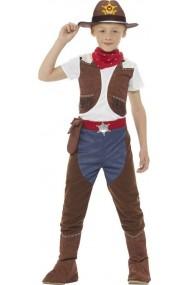 Costum Cowboy Deluxe baieti 7-9 ani