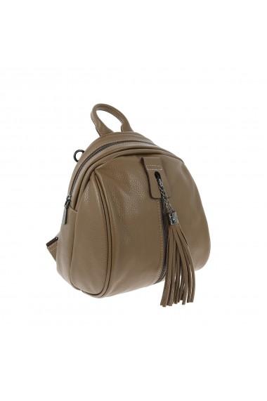 Rucsac/geanta de dama din piele naturala cafenie 175