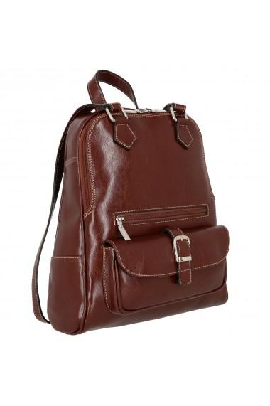 Rucsac/geanta din piele naturala maro coniac model 194