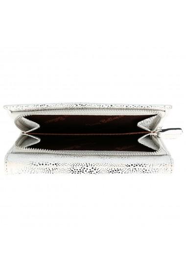 Portofel din piele naturala model Tony Bellucci T866 argintiu