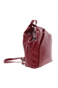 Rucsac/geanta din piele naturala bordo model 133