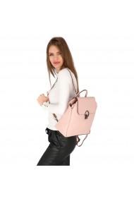 Rucsac din piele naturala roz pudra model 4114
