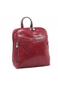 Rucsac din piele naturala vachetta rosu model 4430