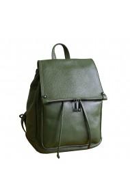 Rucsac din piele verde model R100