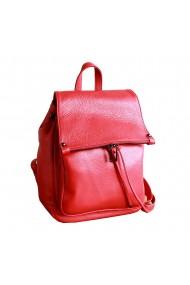 Rucsac din piele rosie model R100