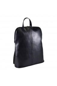 Rucsac/geanta casual piele moale neagra model 213